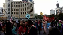 Melbourne police seen at Extinction Rebellion's 'Dancing with Death' protest
