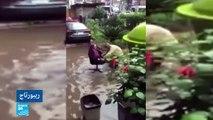 أمطار غزيرة تحول القاهرة إلى مدينة البندقية!!