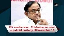 INX media case:  Chidambaram sent to judicial custody till November 13
