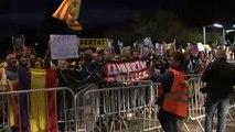 Acto de protesta de los CDR en el mitin de precampaña de Sánchez en Viladecans (Barcelona)