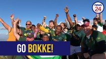 WATCH | Former World Cup winner joins hikers to wish Springboks well ahead of final