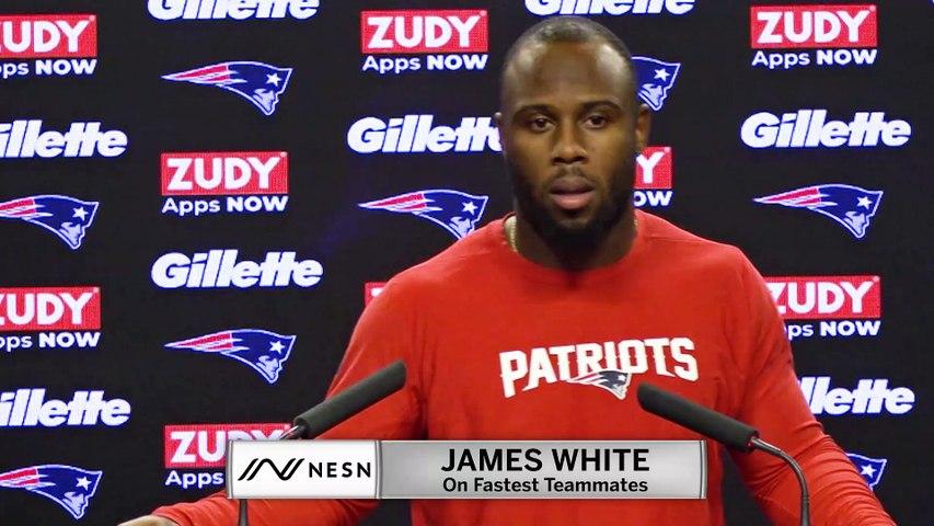 James White Doesn't Consider Tom Brady Fast