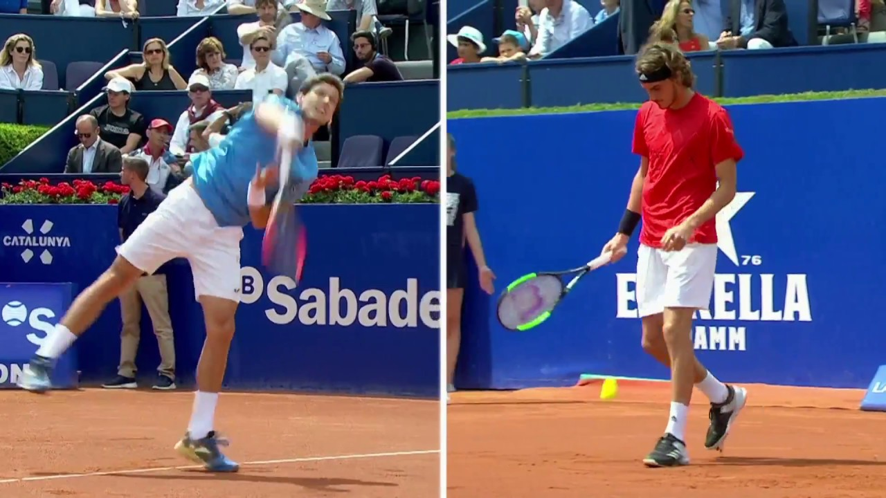 Tsitsipas - Carreno Busta (7-5 | 6-3) ATP 500 Barcelona Open Yarı Final 1. Maçı