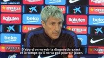 Barça : Quique Setién dévasté pour Dembélé