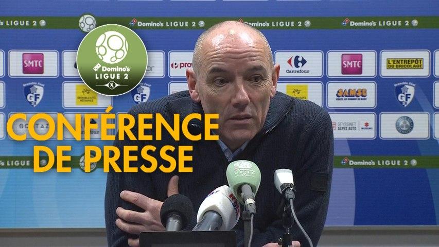 Conférence de presse Grenoble Foot 38 - Havre AC (1-1) : Philippe  HINSCHBERGER (GF38) - Paul LE GUEN (HAC) - 2019/2020