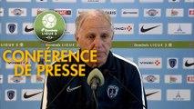 Conférence de presse Paris FC - AC Ajaccio (2-3) : René GIRARD (PFC) - Olivier PANTALONI (ACA) - 2019/2020