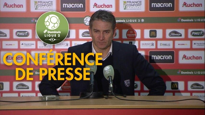 Conférence de presse RC Lens - ESTAC Troyes (1-0) : Philippe  MONTANIER (RCL) - Laurent BATLLES (ESTAC) - 2019/2020