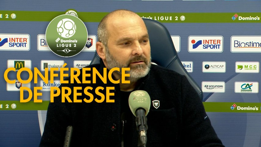 Conférence de presse SM Caen - Chamois Niortais (4-3) : Pascal DUPRAZ (SMC) - Franck PASSI (CNFC) - 2019/2020