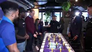 Duke of Cambridge shows-off table football skills