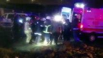 Sabiha Gökçen'de pistten çıkan uçaktaki yaralılar böyle hastaneye götürüldü