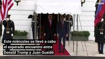 Así fue el encuentro entre Donald Trump y Juan Guaidó
