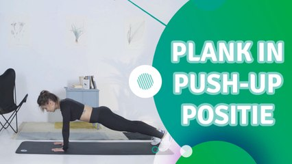 Plank in push-up positie - Ik Ben Fit