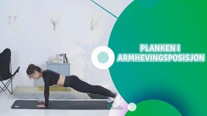 Planken i armhevingsposisjon - Trenings Glede