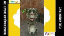 Peidos engraçados do gato tom: Peido matemática 2, ele corre quando aparece os problemas! [Frases e Poemas]