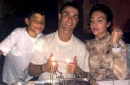 Cristiano Ronaldo celebrates his 35th birthday with his family