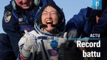 Christina Koch a passé 328 jours consécutifs dans l'espace, un record pour une astronaute