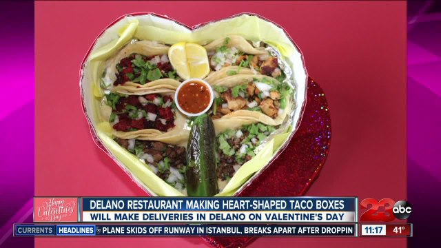 Show the love with heart-shaped box of tacos