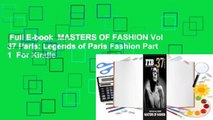 Full E-book  MASTERS OF FASHION Vol 37 Paris: Legends of Paris Fashion Part 1  For Kindle