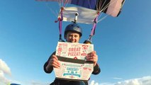 High-Altitude Pizza Delivery: Skydiver Gets Domino's In Midair
