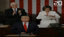 Nancy Pelosi déchire le discours de Donald Trump en direct
