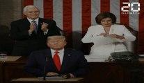 Nancy Pelosi déchire le discours de Donald Trump en direct
