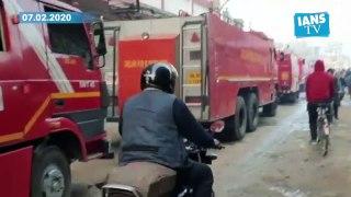 Huge blaze guts house in delhi's Bijwasan