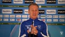 La conférence de presse de Jean-Marc Furlan avant AC Ajaccio-AJA
