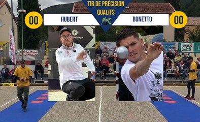 Tir de précision J. HUBERT vs M. BONETTO Quart Nyons pétanque 2019
