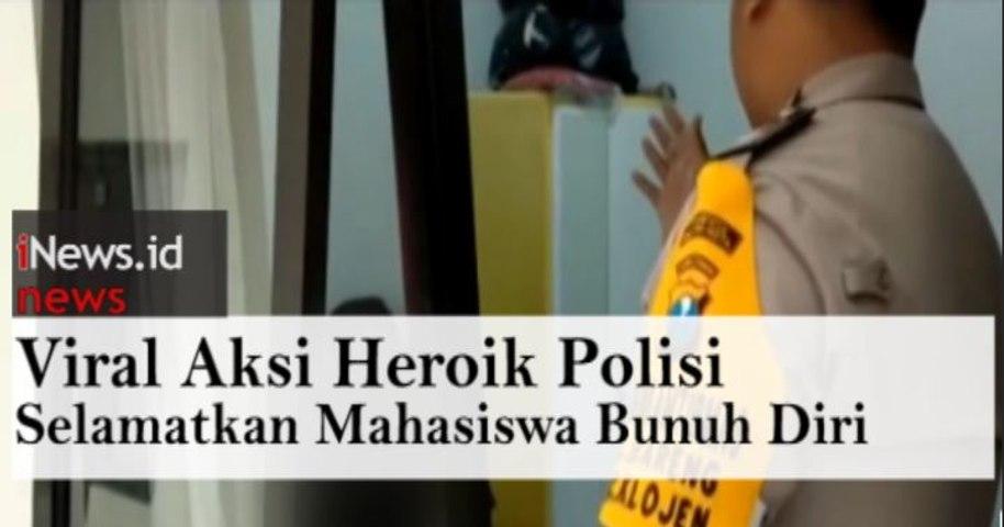 Video Viral Aksi Heroik Polisi di Malang Selamatkan Mahasiswa Bunuh Diri