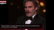 Oscars 2020 : Joaquin Phoenix cite son frère décédé dans  un discours très engagé (Vidéo)