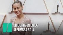 Brie Larson en la alfombra roja de los Oscar 2020