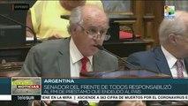 teleSUR Noticias: Argentina: Senado aprueba ley para renegociar deuda