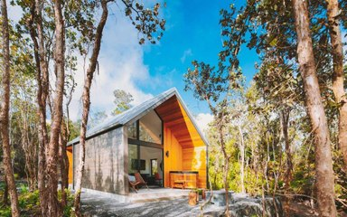 This Gorgeous Cabin Near Hawaii's Volcanoes National Park Is Peak Glamping