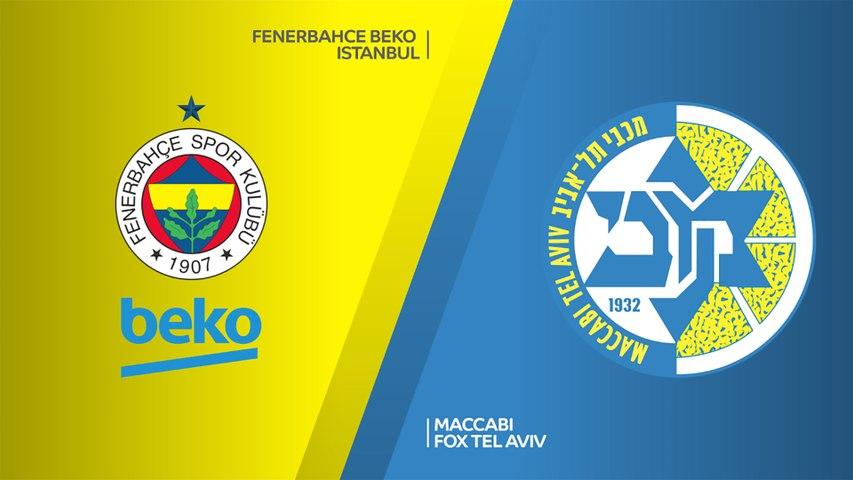 Fenerbahce Beko Istanbul - Maccabi FOX Tel Aviv Highlights | Turkish Airlines EuroLeague, RS Round 24