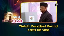 Watch: President Kovind casts his vote