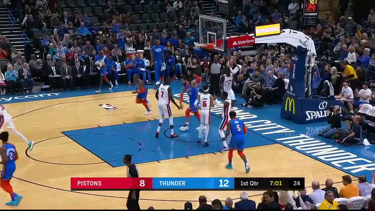 Detroit Pistons 101 - 108 Oklahoma City Thunder
