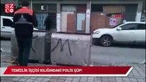 Temizlik işçisi kılığındaki polis, şüpheliyi böyle yakaladı