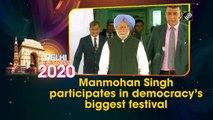Manmohan Singh participates in democracy's biggest festival