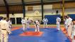 La championne du monde Françoise Dufresne anime un cours de judo adapté