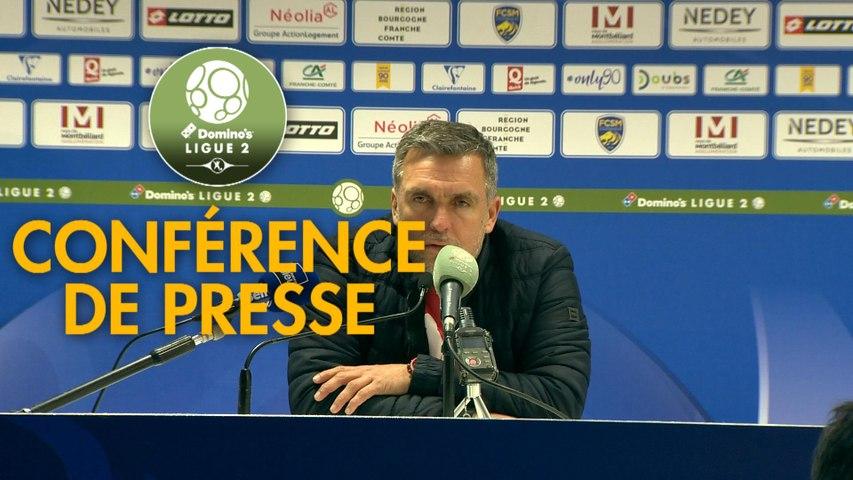 Conférence de presse FC Sochaux-Montbéliard - Le Mans FC (1-0) : Omar DAF (FCSM) - Richard DEZIRE (LEMANS) - 2019/2020