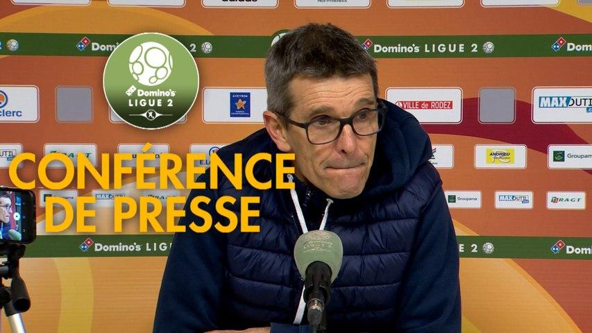 Conférence de presse Rodez Aveyron Football - AS Nancy Lorraine (1-1) : Laurent PEYRELADE (RAF) - Jean-Louis GARCIA (ASNL) - 2019/2020