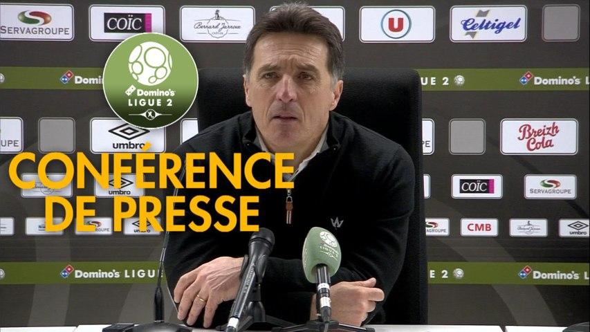Conférence de presse EA Guingamp - FC Lorient (2-1) :  (EAG) - Christophe PELISSIER (FCL) - 2019/2020