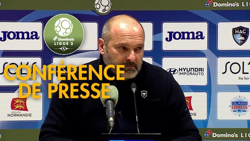 Conférence de presse Havre AC - SM Caen (1-1) : Paul LE GUEN (HAC) - Pascal DUPRAZ (SMC) - 2019/2020