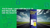 Full E-book  Learn ASP.Net 4.5, C# and Visual Studio 2012 Essential Skills with the Smart Method