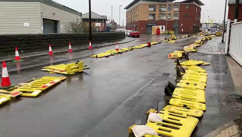 Leeds city centre grinds to a halt due to Storm Ciara