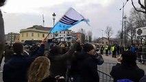 L'arrivo della Lazio a Parma