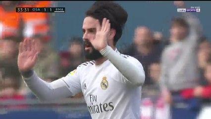 Osasuna 1 - 1 Real Madrid : Goal Isco