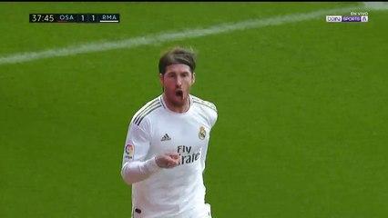 Osasuna 1 - 2 Real Madrid : Goal Sergio Ramos
