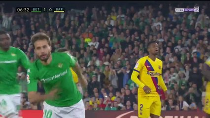 Real Betis 1-0 Barcelona - GOAL: Canales (penalty)