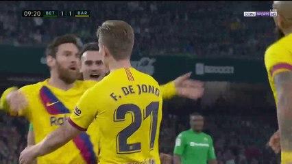 Real Betis 1-1 Barcelona - GOAL: Frenkie de Jong